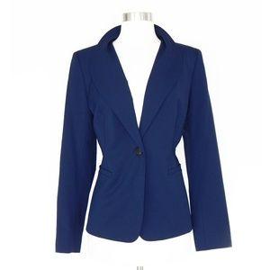 Lafayette 148 NY Navy Blue Stretch Wool Blazer 10